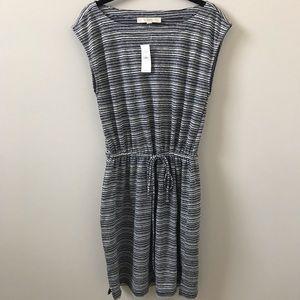 LOFT Dresses - Loft Navy Striped Dress, Size S